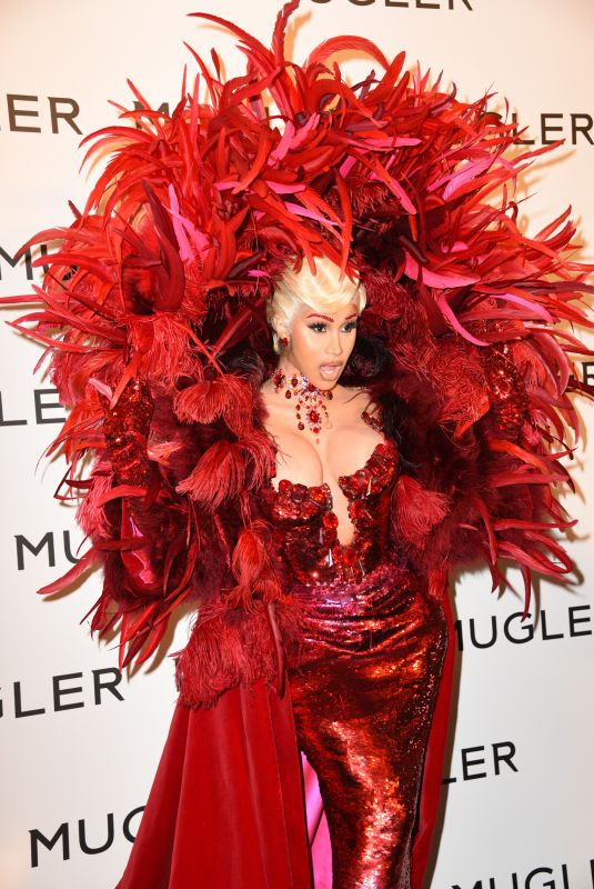 CARDI B at Thierry Mugler: Couturissime Exhibition Opening Ceremony at Museum of Fine Arts in Paris 09/28/2021