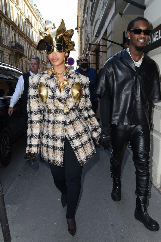 CARDI B Out Shopping in Paris 09/29/2021