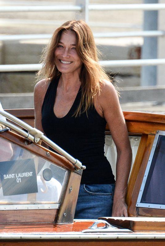 CARLA BRUNI Out in Venice 08/31/2021