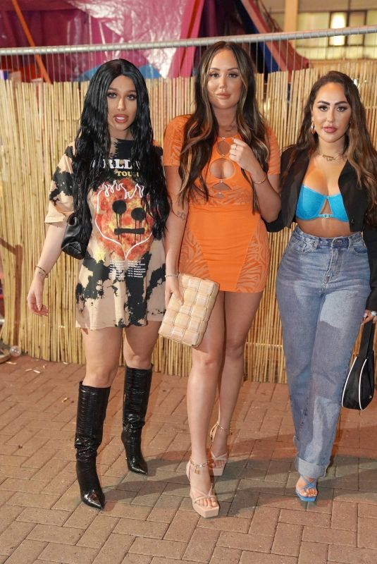 CHARLOTTE CROSBY, SOPHIE KASAEI and BETHAN KERSHAW Night Out in London 09/17/2021