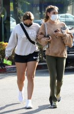 CHATEL JEFFRIES Out for Coffee with a Friend in West Hollywood 09/01/2021