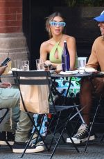 CHATEL JEFFRIES Out for Lunch at Mercer Kitchen in New York 09/07/2021