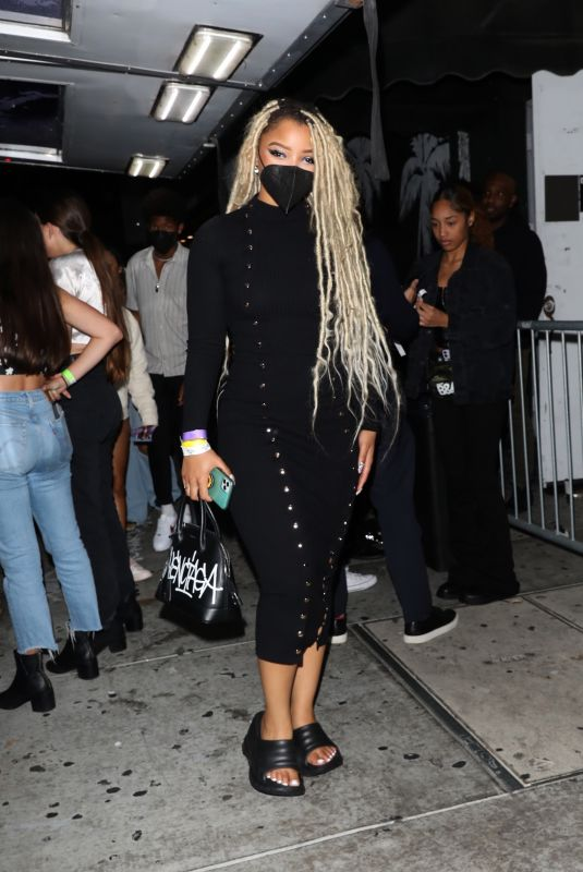 CHLOE and HALLE BAILEY at Lil Nas X Album Release Party in Los Angeles 09/18/2021