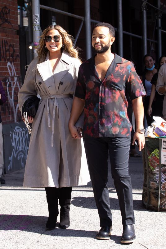CHRISSY TEIGEN and John Legend Out in New York 09/27/2021