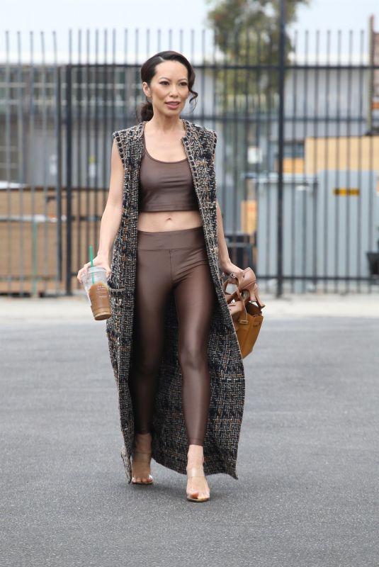 CHRISTINE CHIU Arrives at Dance Studio in Los Angeles 09/18/2021