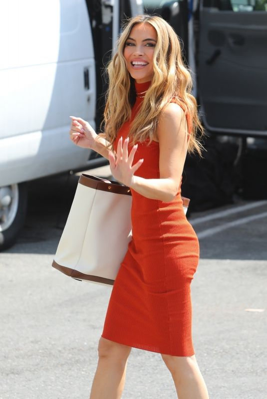 CHRSIHELL STAUSE on the Set of Selling Sunset at Sunset Plaza in West Hollywood 09/16/2021