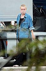 DAKOTA FANNING on the Set of Ripley in Rome 09/15/2021