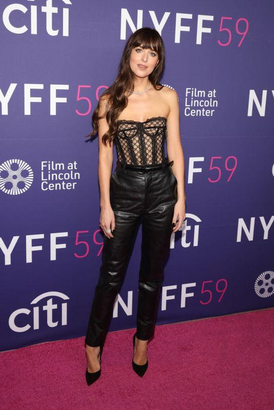 DAKOTA JOHNSON at The Lost Daughter Premiere at 59th New York Film Festival 09/29/2021
