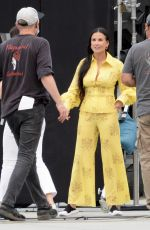 DEMI MOORE on the Set of The Unbearable Weight Of Massive Talent in Los Angeles 09/23/2021