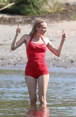 DIANE KRUGER in Swimsuit on the Set of Out of the Blue in Warwick 09/14/2021