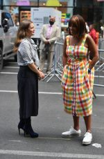 DREW BARRYMORE and GAYLE KING at a Promotion in New York 08/31/2021