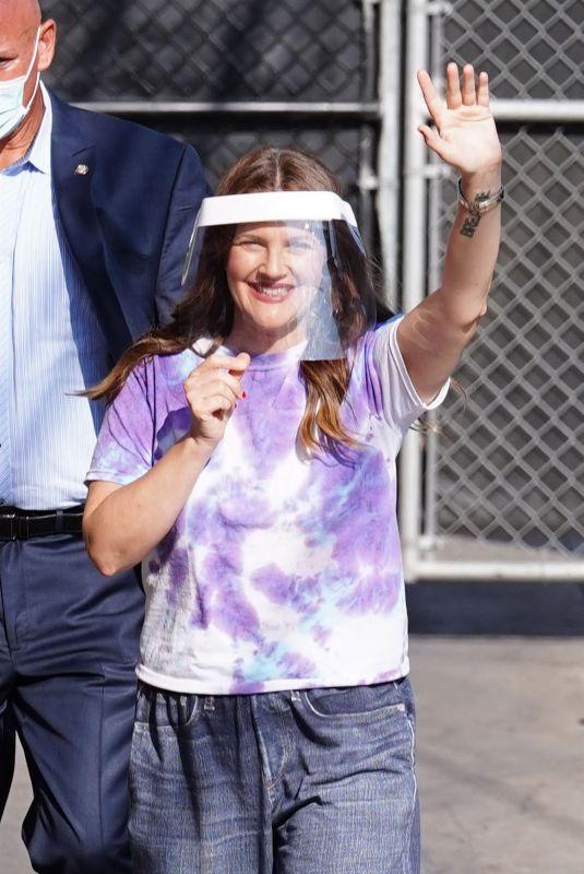 DREW BARRYMORE Arrives at Jimmy Kimmel Live 09/08/2021