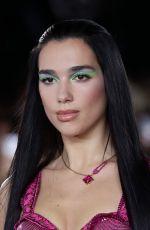 DUA LIPA at Versace Fashion Show in Milan 09/24/2021