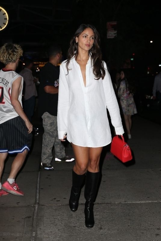 EIZA GONZALEZ Out for Dinner in New York 08/11/2021