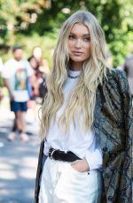 ELSA HOSK Arrives at Michael Kors Spring/Summer 2022 Shoe at New York Fashion Week 09/10/2021