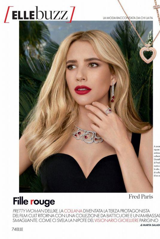 EMMA ROBERTS in Elle Magazine, Italy September 2021