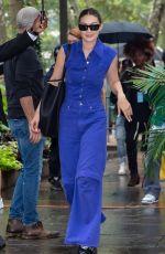 GIGI HADID Arrives at Moschino SS22 Show at New York Fashion Week 09/09/2021