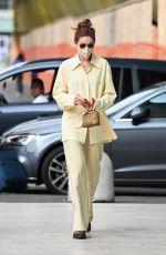 GIGI HADID Arrives at Versace SS22 Fashion Show in Milan 09/23/2021