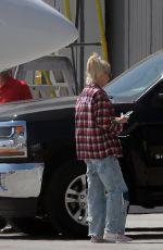 GWEN STEFANI Arrives in Los Angeles via Private Jet 09/06/2021