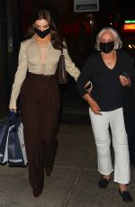 HAILEE STEINFELD Leaves Carbone with Her Grandmother in New York 09/14/2021