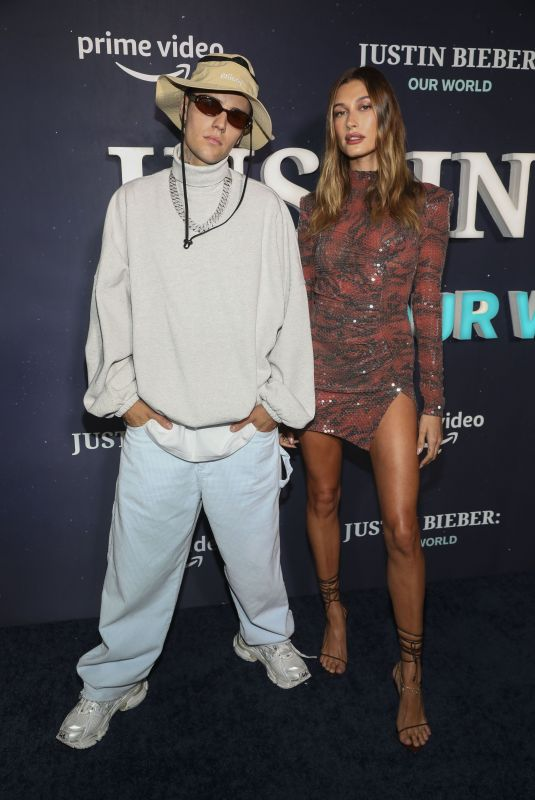 HAILEY and Justin BIEBER at Premiere of Justin