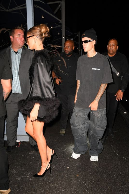 HAILEY and Justin BIEBER Heading to Met Gala Afterparty in New York 09/13/2021