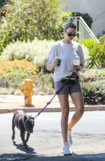HAILEY CLAUSON and Julian Herrera Out with Their Dog in Venice Beach 09/03/2021