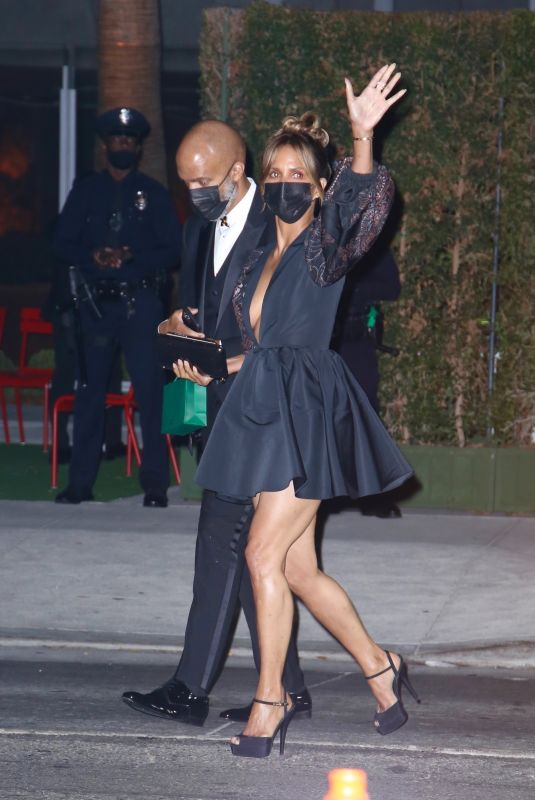 HALLE BERRY Leaves Academy Museum of Motion Pictures Opening Gala in Los Angeles 09/25/2021