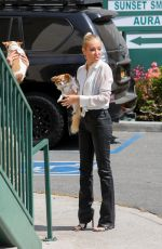 HEATHER RAE YOUNG on the Set of Selling Sunset at Sunset Plaza in West Hollywood 09/16/2021