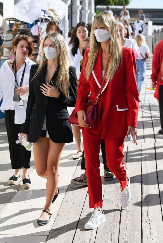 HEIDI and LENI KLUM Out in Venice 08/27/2021