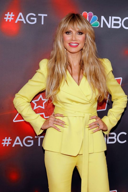HEIDI KLUM at America's Got Talent, Season 16 in Hollywood 09/07/2021