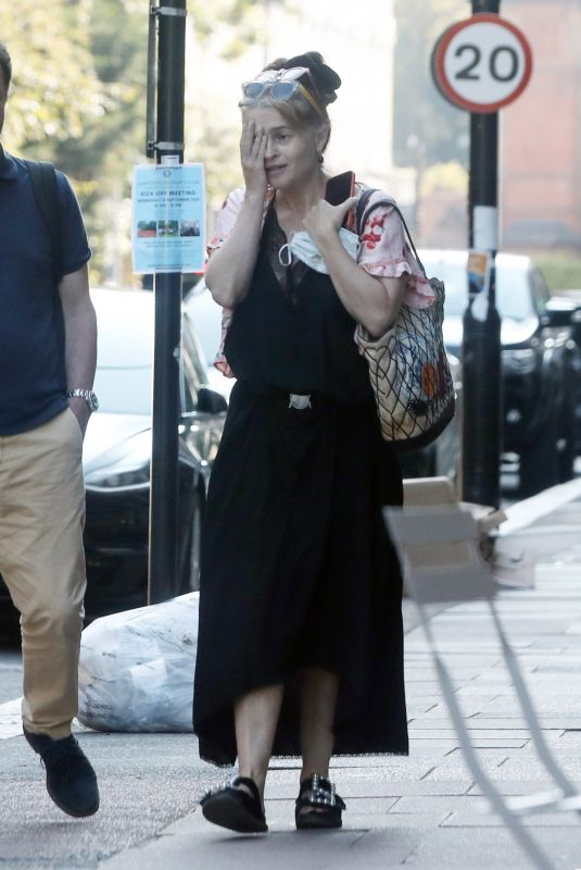 HELENA BONHAM CARTER Out and About in London 09/08/2021