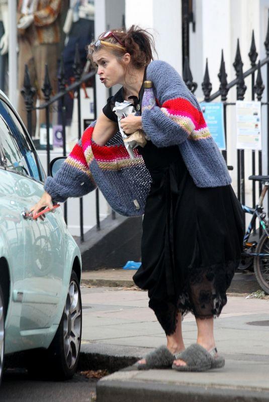 HELENA BONHAM CARTER Out in London 09/02/2021