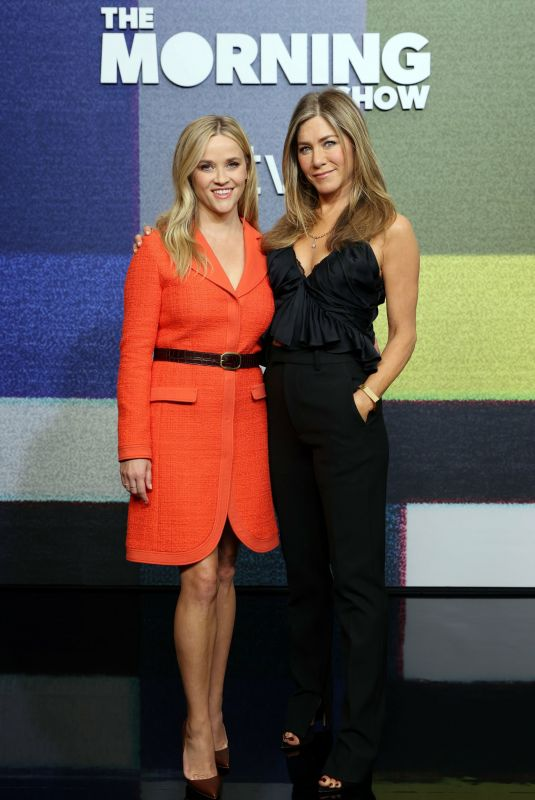JENNIFER ANISTON and REESE WITHERSPOON The Morning Show Season Two Special Premiere Photocall in Los Angeles 09/10/2021