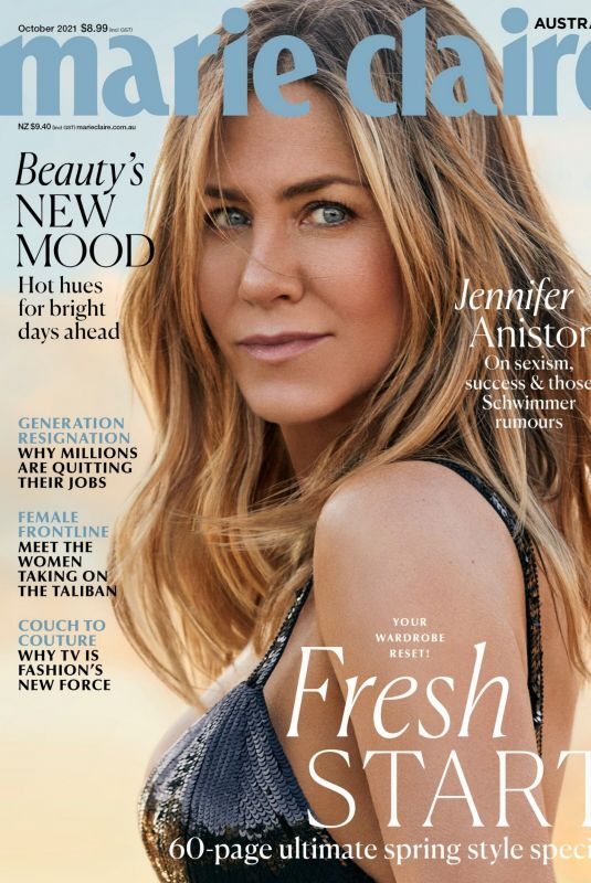 JENNIFER ANISTON in Marie Claire Magazine, Australia October 2021