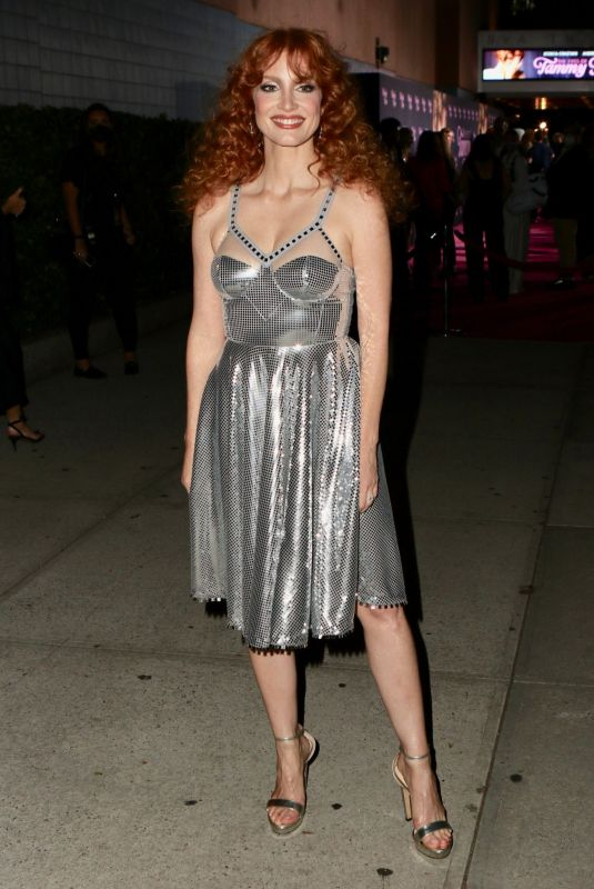 JESSICA CHASTAIN Arrives at Sva Theater in New York 09/14/2021