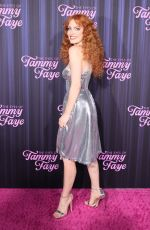 JESSICA CHASTAIN at The Eyes Of Tammy Faye Premiere in New York 09/14/2021