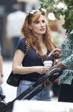 JESSICA CHASTAIN Talks with a Friend in New York 09/15/2021