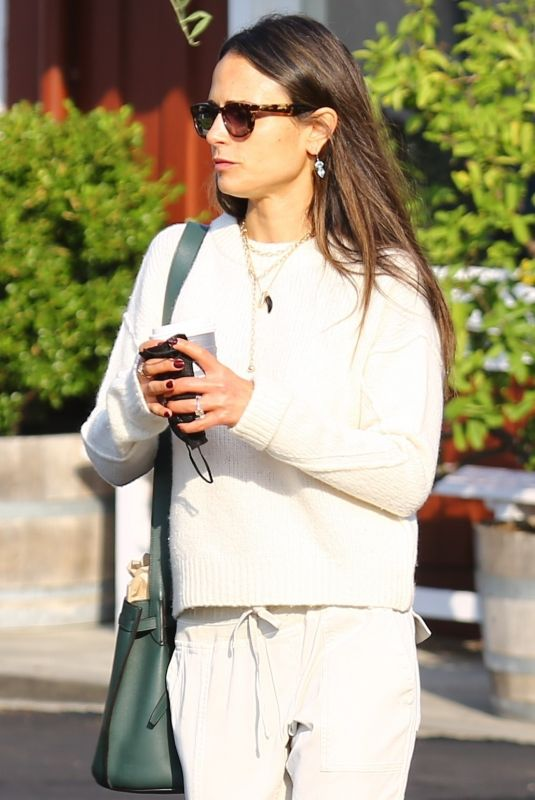 JORDANA BREWSTER at Caffe Luxxe in Brentwood 09/29/2021