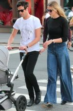 KARLIE KLOSS and Joshua Kushner Out with Their Baby at Washington Square Park in New York 09/11/2021