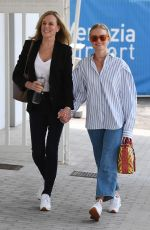 KATE BOSWORTH and Her Mother Arrives in Venice 08/31/2021