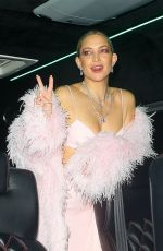 KATE HUDSON Leaves Carlyle Hotel in New York 09/13/2021