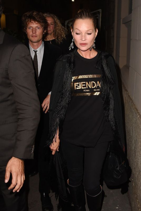 KATE MOSS Leaves Fendace Afterparty at Milan Fashion Week 09/26/2021
