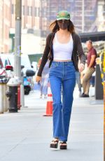 KENDALL JENNER Out in Denim Out Lunch in New York 09/12/2021