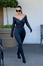 KIM KARDASHIAN in Tight Black Balenciaga at CVS in Los Angeles 09/15/2021