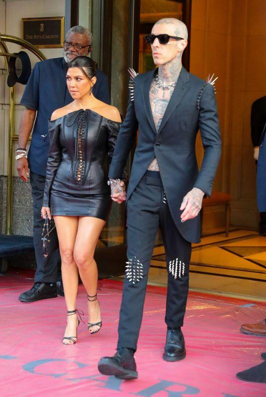 KOURTNEY KARDASHIAN and Travis Barker Heading to MTV VMAs in New York 09/12/2021