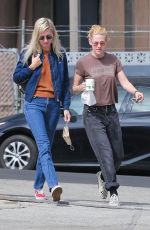 KRISTEN STEWART and DYLAN MEYER Out in Los Angeles 09/18/2021
