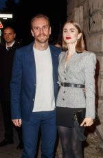 LILY COLLINS at Cartier Clash Dinner 09/21/2021