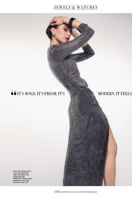 LILY COLLINS for Harper's Bazaar Magazine, Singapore September 2021