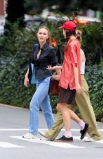 LILY-ROSE DEPP and MARGARET QUALLEY Out in New York 09/05/2021